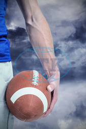 20s, Young Adult, Man, Male, Caucasian, Close-up, Sky, Dark, Grey, Stormy, Gloomy, Clouds, Cloudy, Football Player, American Football - Sport, American Football Player, Sport, Competitive Sport, Sports Uniform, Competit