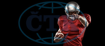 20s, Young Adult, Man, Male, Caucasian, Looking At Camera, Black, Football Player, American Football - Sport, American Football Player, Sport, Competitive Sport, Activity, Focused, Determined, Strength, Red, Jersey,  S
