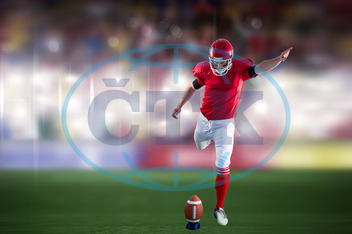20s, Young Adult, Man, Male, Caucasian, Event, Stadium, Arena, Spotlights, Pitch, Grass, Crowd, Fans, Sport, Football Player, American Football - Sport, American Football Player, Quarterback, Competitive Sport, Ball, Foo
