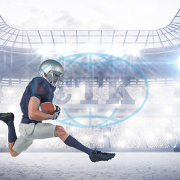 20s, Young Adult, Man, Male, Caucasian, Event, Stadium, Arena, Spotlights, Lights, Crowd, Fans, Bright, Football Player, American Football - Sport, American Football Player, Quarterback, Sport, Competitive Sport, Red, So