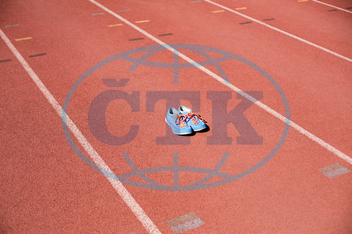 Outdoors, Olympic, Olympics, Game, Sports, Stadium, Athlete, Athletic, Athleticism, Sunny, Running Track, Sport Shoes, Racing, Line, Milestone, Empty, Absence, Anticipation, Competition, Challenge