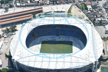 Joao Havelange Olympic Stadium, ,  Aerial views of sports facilities in Rio de Janeiro in Brazil.