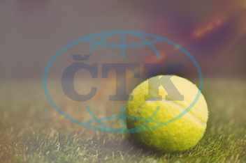 Close Up, Tennis Ball, Grass, Pitch, Field, Black, Background, Empty, Copy Space, Blank, Screen, Advertisement, Billboard, Digital, Digitally Generated, Computer Graphic, Tennis, Tennis Racket, Tennis Whites, Game, Sport