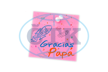 Digital,  Digitally Generated,  Computer Graphic,  Illustration,  White Background,  Studio Shot,  Pushpin,  Pink,  Paper,  Copy Space,  Blank,  Pin,  Happy Fathers Day,  Father,  Written,  Write,  Font,  Cool,  Stylis