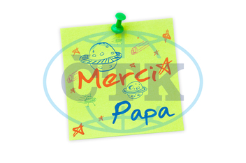Digital,  Digitally Generated,  Computer Graphic,  Illustration,  White Background,  Studio Shot,  Pushpin,  Green,  Paper,  Copy Space,  Blank,  Pin,  Happy,  Fathers,  Day,  Father,  Written,  Write,  Font,  Cool,  Sty