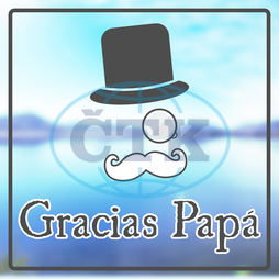 Lake,  Water,  Landscape,  Nature,  Mountain,  Grass,  Blue,  Sky,  Sunny,  Day,  Word,  Message,  Thanks,  Gracias,  Papa,  Spanish,  Espagnol,  Dad,  Fathers Day,  Espanol,  Icons,  White,  Tie,  Hat,  Top Hat,  Black,  Must