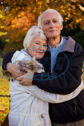 Man, Male, Caucasian, 70s, Senior, Elderly, Woman, Female, Outdoors, Looking At Camera, Couple, Relationship, Together, Park, Countryside, Parkland, Leisure, Spare Time, Free Time, Lifestyles, Leisure Activity, Love, Bondi