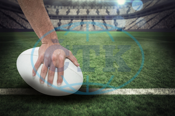 20s, Young Adult, Man, Male, Caucasian, Rugby, Sport, Event, World, Cup, Pitch, Leisure, Digital, Digitally Generated, Computer Graphic, Stadium, Light, Spotlight, Football Player, American Football - Sport, American Foo