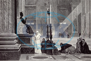 rome italy 1875, the , pontiff, Bishop of Rome, Holy Father, pope at the feet of st peterchurch, house of God, church, architecture, house of God, church, religion, dome, monument, christian, christianity, cathedral,
