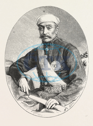 SIR, SALAR, G.C.S.I., ENGRAVING, 1876, Salar, family, noble, family, Hyderabad, state, India, engraved image, history, historic art, illustrative technique, engravement, Arts, Culture, 19th Century Style, Retro Styled, Vi