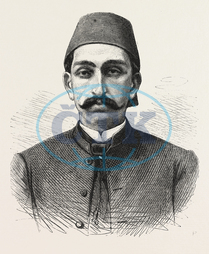 NEW, SULTAN, TURKEY, HAMID II, ENGRAVING, 1876, engraved image, history, historic art, illustrative technique, engravement, Arts, Culture, 19th Century Style, Retro Styled, Vintage, retro, arkheia, nineteenth century e