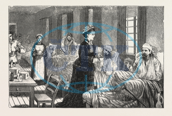 KATHERINE, HOSPITAL, BELGRADE, SERBIA, ENGRAVING, 1876, engraved image, history, historic art, illustrative technique, engravement, Arts, Culture, 19th Century Style, Retro Styled, Vintage, retro, arkheia, nineteenth c
