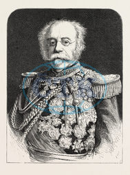 LATE, DUC, SALDANHA, PORTUGUESE, MINISTER, ENGLISH, COURT, ENGRAVING, 1876, engraved image, history, historic art, illustrative technique, engravement, Arts, Culture, 19th Century Style, Retro Styled, Vintage, retro, ark