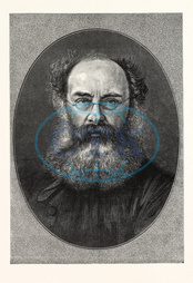 MR., ANTHONY, TROLLOPE, 24, April, 1815, 6, December, 1882, English, novelist, Victorian, era, ENGRAVING, 1876, UK, britain, british, europe, united kingdom, great britain, european, engraved image, history, historic art, ill
