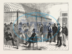 VOTERS, ELECTION-DAY, NEW, POST, OFFICE, NEW, YORK, ENGRAVING, 1876, USA, America, United States, engraved image, history, historic art, illustrative technique, engravement, Arts, Culture, 19th Century Style, Retro Style
