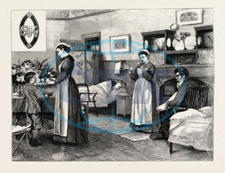 NURSES, ZULU WAR, ENGRAVING 1879, 19th century engraving, engraved image, history, illustrative technique, engravement, engraving, victorian, Arts, Culture, 19th Century Style, Retro Styled, Vintage, retro, arkheia, n