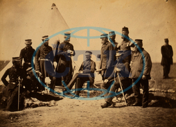 Lieutenant General Pennefather, Captain Wing, Captain Layard, Captain Ellison, Colonel Wilbraham, Colonel Percy Herbert, Major Thackwell, Dr. Wood, officers, staff, Crimean War, 1853-1856, Roger Fenton, historic w