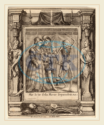 Wenceslaus Hollar, Hans Holbein the Younger, Abraham van Diepenbeeck, Bohemian, 1607-1677, Bridal Pair, 1651, etching with border