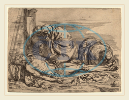 Follower of Jusepe de Ribera, The Lamentation, before 1624, etching, Follower, of, Jusepe, de, Ribera