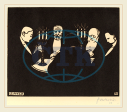 Félix Vallotton, Le Poker, Poker, Swiss, 1865-1925, 1896, woodcut, Félix, Vallotton