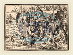 Christoph Murer, The Martyrdom of Saint James, ?, Swiss, 1558-1614, 1630, woodcut on laid paper, Christoph, Murer