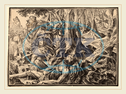 Christoph Murer, Christ Tells His Disciples of the Last Judgment, Swiss, 1558-1614, 1630, woodcut, Christoph, Murer