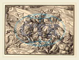 Christoph Murer, The Four Horsemen of the Apocalypse, Swiss, 1558-1614, 1630, woodcut, Christoph, Murer