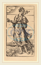 Niklaus Manuel I, The Wise Virgin, Swiss, 1484-1530, 1518, woodcut, Niklaus, Manuel, I