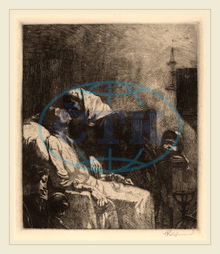 Albert Besnard, The End, La Fin de Tout, French, 1849, 1934, 1883, etching, black, laid, paper, Albert, Besnard