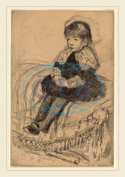 Mary Cassatt, Child Seated on a Sofa, American, 1844, 1926, 1883, graphite, Mary, Cassatt