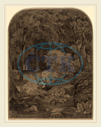 William Trost Richards, Landscape, American, 1833, 1905, 1862, graphite, wove, paper, William, Trost, Richards