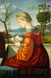 Vittore Carpaccio, Italian, 1465, 1525, 1526, Virgin, Reading, 1505, oil, panel, canvas, Vittore, Carpaccio