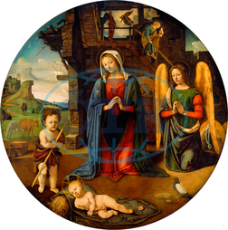 Piero di Cosimo, The Nativity with the Infant Saint John, Italian, 1462, 1521, 1500, oil, canvas, Piero, di, Cosimo