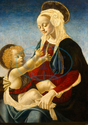 after Andrea del Verrocchio, Madonna and Child, 1470-1480, tempera on panel, Andrea, del, Verrocchio