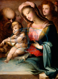 Domenico Beccafumi, The Holy Family with Angels, Italian, 1485, 1551, 1545, 1550, oil, panel, Domenico, Beccafumi