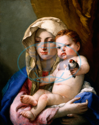 Giovanni Battista Tiepolo, Madonna of the Goldfinch, Italian, 1696, 1770, 1767, 1770, oil, canvas, Giovanni, Battista, Tiepolo
