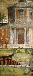 Bernardino Luini, Cephalus and Pan at the Temple of Diana, Italian, 1480, 1532, 1520, 1522, fresco, Bernardino, Luini