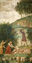 Bernardino Luini, Cephalus Punished at the Hunt, Italian, 1480, 1532, 1520, 1522, fresco, Bernardino, Luini