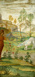 Bernardino Luini, Procris and the Unicorn, Italian, 1480, 1532, 1520, 1522, fresco, Bernardino, Luini