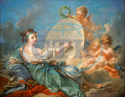 François Boucher, Allegory of Painting, French, 1703, 1770, 1765, oil, canvas, François, Boucher