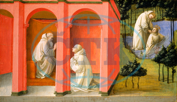 Fra Filippo Lippi, Saint Benedict Orders Saint Maurus to the Rescue of Saint Placid, Italian, 1406, 1469, 1445, 1450, tempera, panel, Fra, Filippo, Lippi