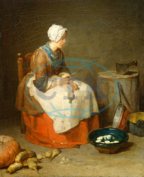 Jean Siméon Chardin, The Kitchen Maid, French, 1699, 1779, 1738, oil, canvas, Jean, Siméon, Chardin