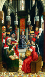 Master of the Catholic Kings, Christ among the Doctors, Spanish, 1485, 1500, 1495, 1497, oil, panel, Master, Catholic, Kings