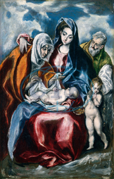 El Greco, Domenikos Theotokopoulos, The Holy Family with Saint Anne and the Infant John the Baptist, Greek, 1541, 1614, 1595, 1600, oil, canvas, El, Greco