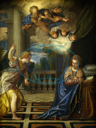 Veronese, The Annunciation, Italian, 1528, 1588, 1580, oil, canvas, Veronese