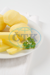 raw whole and chipped potatoes