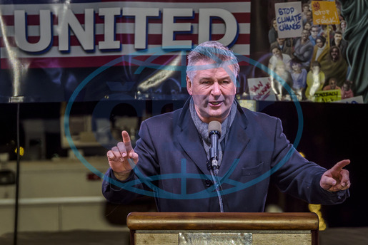 Alec Baldwin,  herec,  NYC: Celebrities and City Officials Protest Trump