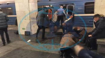 170403 ST PETERSBURG April 3 2017 The photo taken on April 3 2017 shows the blast sit, metro,  Petrohrad,  exploze,  výbuch
