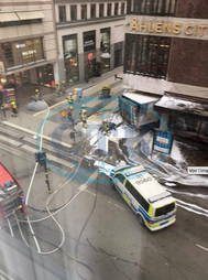 Three people have been killed after a truck was driven into crowds in central Stockholm,  police and eyewitnesses said