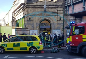 Explosion in a subway in London